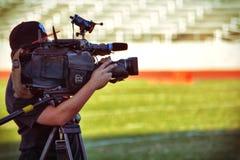 Video della registrazione dell'uomo della macchina fotografica Fotografie Stock