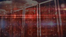 Video della stanza del server stock footage