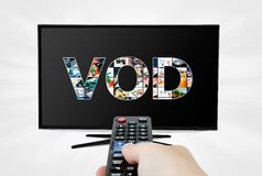 Video on demand service on TV Royalty Free Stock Image