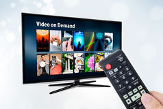 Video on demand VOD service on smart TV Stock Image