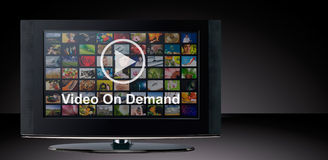 Video on demand VOD service on TV. Royalty Free Stock Photography