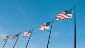Video des Flaggenfliegens Vereinigter Staaten stolz stock video
