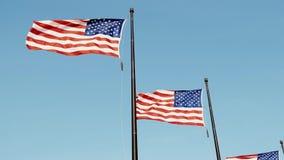 Video des Flaggenfliegens Vereinigter Staaten stolz stock footage