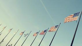 Video des Flaggenfliegens Vereinigter Staaten stolz stock video footage