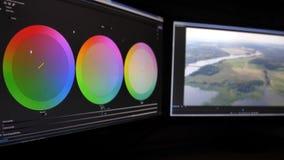 Video di correzione di colore e di pubblicazione sul computer archivi video