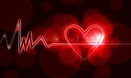 Monitor di cuore Fotografia Stock Libera da Diritti