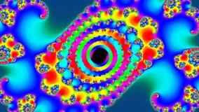 Video di frattale 4k UHD dell'arcobaleno illustrazione vettoriale