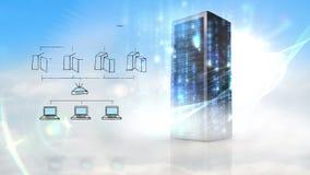 Video di grande rete di trasmissione di dati