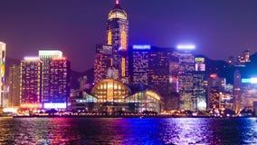 Video di Hyperlapse di Hong Kong a partire dal giorno alla notte archivi video