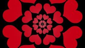 Video di riserva piacevole fresco di fioritura senza fine 4k del ciclo del fiore di forma del cuore di animazione qualità senza c illustrazione vettoriale