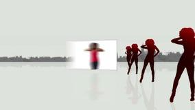 Video di un dancing della donna illustrazione vettoriale