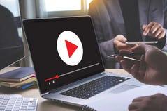 VIDEO die Audiovideo, markt Interactieve kanalen, Bu OP DE MARKT BRENGEN royalty-vrije stock afbeeldingen