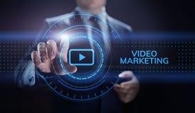 Video die het online reclame commerciële concept van Internet op de markt brengen stock afbeelding