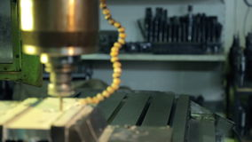 Video of different equipment for drilling in special room in factory. stock video