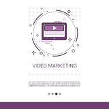 Video Digitale Marketing Bedrijfswebbanner met Exemplaarruimte royalty-vrije illustratie