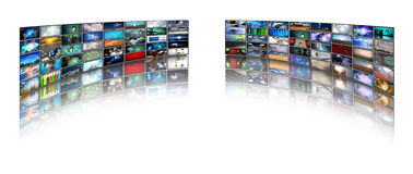 Video displays Royalty Free Stock Photos