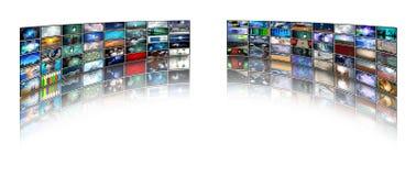 Video displays stock illustration