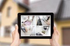 Video domestico della casa intelligente dell'allarme del sistema di controllo del cctv della macchina fotografica Fotografia Stock Libera da Diritti