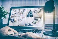 Video domestico della casa intelligente dell'allarme del sistema di controllo del cctv della macchina fotografica Fotografia Stock