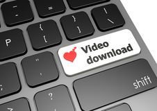 Video download Immagine Stock