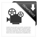 Video download icon. On white background Stock Image