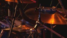 Drum set hi hat stock video