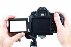 Video DSLR sul treppiedi Fotografie Stock Libere da Diritti