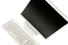 Video e tastiera dell'affissione a cristalli liquidi Immagine Stock Libera da Diritti
