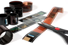 Video editing. Of negative and positive film stock images