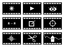 Video editing Icons Royalty Free Stock Photo