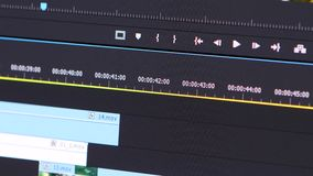Video Editing Software Going Through The Timeline Frame By Frame Point Of View stock video