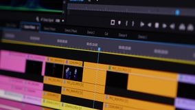 Video Editing Software Going Through The Timeline Frame By Frame Point Of View.  stock video footage