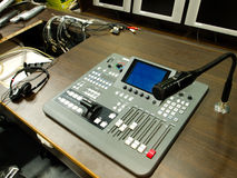 Video Editing Workstation. Audio and video mixer editing workstation Royalty Free Stock Photos