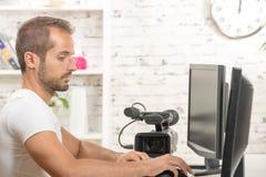 Video editor Stock Photos