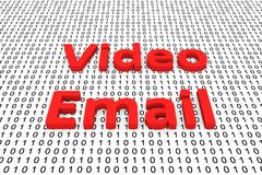 Video email Royaltyfria Foton