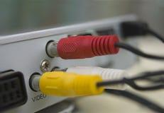 Video en audiokabels stock fotografie