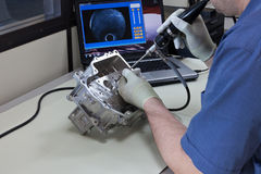 Video endoscopia immagini stock