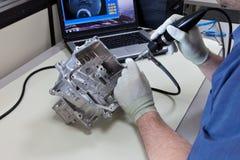Video endoscopia immagine stock