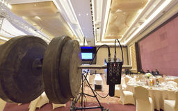 Video equipment. At the wedding banquet Royalty Free Stock Images