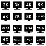 Video extension icon. Set of icons. glyph style stock illustration