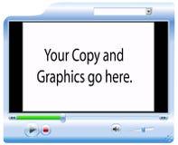 video för bakgrundsspelareskärm Arkivbilder