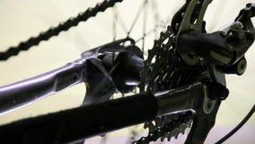Video för cykelsnurrhjul arkivfilmer