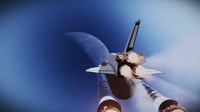 Video för flygplanlängd i fot räknatrymdfärja stock illustrationer