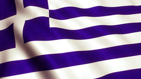 Video för Grekland flaggaanimering - 4K stock illustrationer