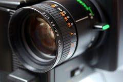video för kameralins Arkivbild