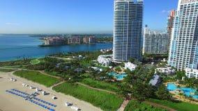 Video för Miami Beach andelslägenhetantenn arkivfilmer