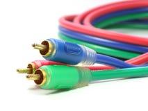 video för rca för stålar för del för kabel 3 arkivfoto