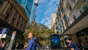 video för timelapse 4k av shoppingpolisdistriktet i Sydney, Australien