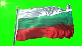 Video för tolkning 3D för Bulgarienflagga sömlös kretsa Härligt vinka för ögla för textiltorkduketyg