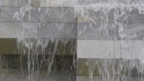 Video from the falling water of the fountain in Blagoevgrad in Bulgaria on 1 June 2019. This video was taken in Bulgaria Blagoevgrad center fountain video 2 stock video